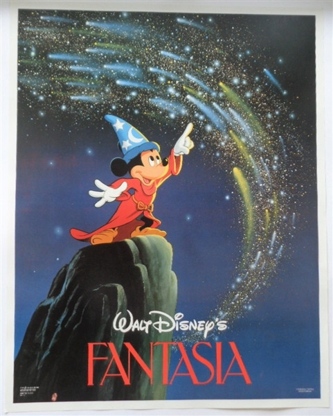 Lot Detail Vintage Mickey Mouse 1986 Colorful Poster Of Walt Disney S Fantasia No Reserve