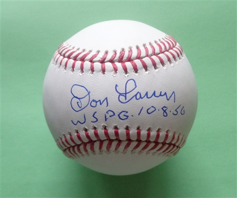 c5549047c Don Larsen Yankees Signed Official Major League Baseball with Inscription  WSPG 10 8 56 PIFA COA